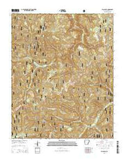 Fallsville Arkansas Current topographic map, 1:24000 scale, 7.5 X 7.5 Minute, Year 2014 from Arkansas Maps Store