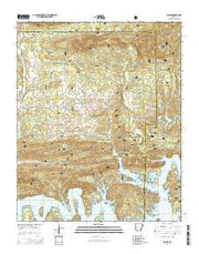 Fannie Arkansas Current topographic map, 1:24000 scale, 7.5 X 7.5 Minute, Year 2014 from Arkansas Maps Store
