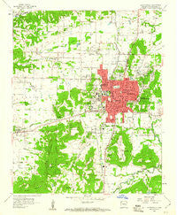 Fayetteville Arkansas Historical topographic map, 1:24000 scale, 7.5 X 7.5 Minute, Year 1958
