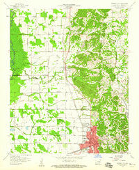 Forrest City Arkansas Historical topographic map, 1:24000 scale, 7.5 X 7.5 Minute, Year 1958