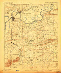 Fort Smith Arkansas Historical topographic map, 1:125000 scale, 30 X 30 Minute, Year 1890