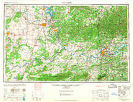 Fort Smith Oklahoma Historical topographic map, 1:250000 scale, 1 X 2 Degree, Year 1967