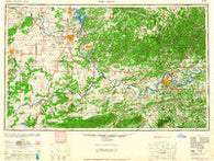 Fort Smith Oklahoma Historical topographic map, 1:250000 scale, 1 X 2 Degree, Year 1965
