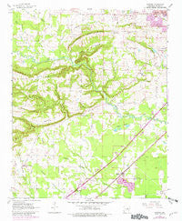 Garner Arkansas Historical topographic map, 1:24000 scale, 7.5 X 7.5 Minute, Year 1963