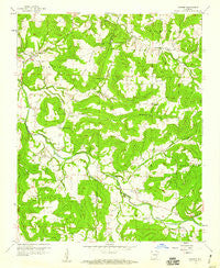 Goshen Arkansas Historical topographic map, 1:24000 scale, 7.5 X 7.5 Minute, Year 1958
