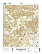 Haskell Arkansas Current topographic map, 1:24000 scale, 7.5 X 7.5 Minute, Year 2014 from Arkansas Map Store