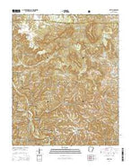 Hasty Arkansas Current topographic map, 1:24000 scale, 7.5 X 7.5 Minute, Year 2014 from Arkansas Map Store