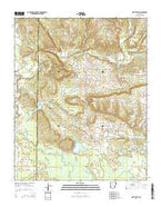 Hattieville Arkansas Current topographic map, 1:24000 scale, 7.5 X 7.5 Minute, Year 2014 from Arkansas Map Store