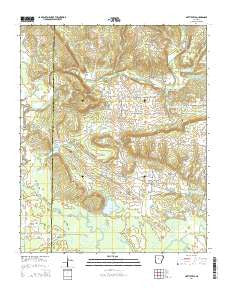 Hattieville Arkansas Current topographic map, 1:24000 scale, 7.5 X 7.5 Minute, Year 2014