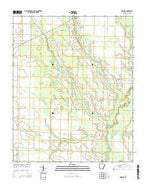 Hawkins Arkansas Current topographic map, 1:24000 scale, 7.5 X 7.5 Minute, Year 2014 from Arkansas Map Store