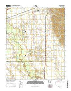 Haynes Arkansas Current topographic map, 1:24000 scale, 7.5 X 7.5 Minute, Year 2014 from Arkansas Map Store