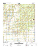 Hazen Arkansas Current topographic map, 1:24000 scale, 7.5 X 7.5 Minute, Year 2014 from Arkansas Map Store