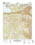 Heber Springs Arkansas Current topographic map, 1:24000 scale, 7.5 X 7.5 Minute, Year 2014 from Arkansas Map Store