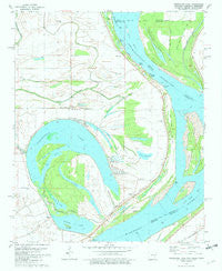 Horseshoe Lake Arkansas Historical topographic map, 1:24000 scale, 7.5 X 7.5 Minute, Year 1981