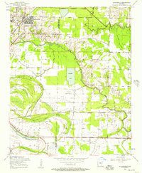 Jacksonville Arkansas Historical topographic map, 1:24000 scale, 7.5 X 7.5 Minute, Year 1954