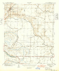 Jacksonville Arkansas Historical topographic map, 1:31680 scale, 7.5 X 7.5 Minute, Year 1943