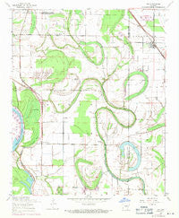 Keo Arkansas Historical topographic map, 1:24000 scale, 7.5 X 7.5 Minute, Year 1954