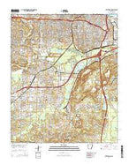 Little Rock Arkansas Current topographic map, 1:24000 scale, 7.5 X 7.5 Minute, Year 2014 from Arkansas Map Store