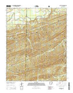 Little Texas Arkansas Current topographic map, 1:24000 scale, 7.5 X 7.5 Minute, Year 2014 from Arkansas Map Store