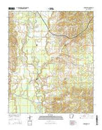 Lockesburg Arkansas Current topographic map, 1:24000 scale, 7.5 X 7.5 Minute, Year 2014 from Arkansas Map Store