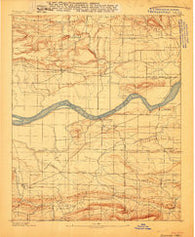 Magazine Mountain #1 Arkansas Historical topographic map, 1:62500 scale, 15 X 15 Minute, Year 1887