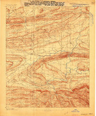 Magazine Mountain #3 Arkansas Historical topographic map, 1:62500 scale, 15 X 15 Minute, Year 1887