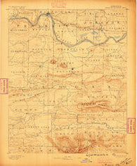 Magazine Mountain Arkansas Historical topographic map, 1:62500 scale, 15 X 15 Minute, Year 1887