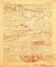 Magazine Mountain Arkansas Historical topographic map, 1:125000 scale, 30 X 30 Minute, Year 1890