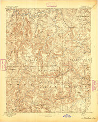 Marshall Arkansas Historical topographic map, 1:125000 scale, 30 X 30 Minute, Year 1894
