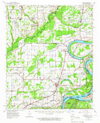 Modoc Arkansas Historical topographic map, 1:62500 scale, 15 X 15 Minute, Year 1963