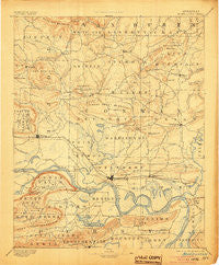Morrillton Arkansas Historical topographic map, 1:125000 scale, 30 X 30 Minute, Year 1894