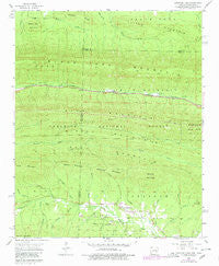Mountain Fork Arkansas Historical topographic map, 1:24000 scale, 7.5 X 7.5 Minute, Year 1958