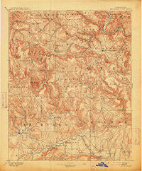 Mountain View Arkansas Historical topographic map, 1:125000 scale, 30 X 30 Minute, Year 1894