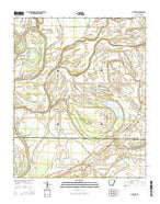 Mud Lake Arkansas Current topographic map, 1:24000 scale, 7.5 X 7.5 Minute, Year 2014 from Arkansas Map Store