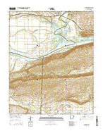 Mulberry Arkansas Current topographic map, 1:24000 scale, 7.5 X 7.5 Minute, Year 2014 from Arkansas Map Store