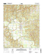 Murfreesboro Arkansas Current topographic map, 1:24000 scale, 7.5 X 7.5 Minute, Year 2014 from Arkansas Map Store