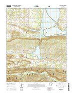 New Blaine Arkansas Current topographic map, 1:24000 scale, 7.5 X 7.5 Minute, Year 2014 from Arkansas Map Store