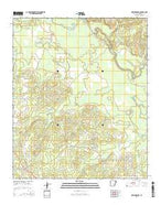 New Edinburg Arkansas Current topographic map, 1:24000 scale, 7.5 X 7.5 Minute, Year 2014 from Arkansas Map Store