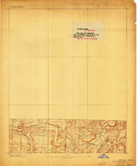 Ozone Arkansas Historical topographic map, 1:62500 scale, 15 X 15 Minute, Year 1889