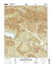 Paron Arkansas Current topographic map, 1:24000 scale, 7.5 X 7.5 Minute, Year 2014 from Arkansas Maps Store
