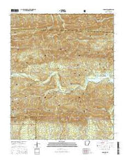 Paron SW Arkansas Current topographic map, 1:24000 scale, 7.5 X 7.5 Minute, Year 2014 from Arkansas Maps Store