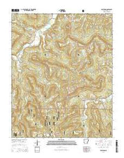 Parthenon Arkansas Current topographic map, 1:24000 scale, 7.5 X 7.5 Minute, Year 2014 from Arkansas Maps Store