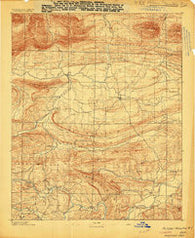 Poteau Mountain #1 Arkansas Historical topographic map, 1:62500 scale, 15 X 15 Minute, Year 1887