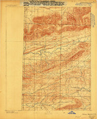 Poteau Mountain #2 Arkansas Historical topographic map, 1:62500 scale, 15 X 15 Minute, Year 1887