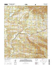 Potter Arkansas Current topographic map, 1:24000 scale, 7.5 X 7.5 Minute, Year 2014 from Arkansas Maps Store