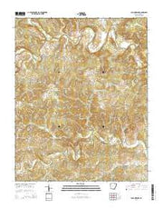 Poughkeepsie Arkansas Current topographic map, 1:24000 scale, 7.5 X 7.5 Minute, Year 2014 from Arkansas Maps Store