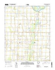 Powers Slough Arkansas Current topographic map, 1:24000 scale, 7.5 X 7.5 Minute, Year 2014 from Arkansas Maps Store