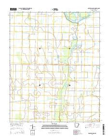 Powers Slough Arkansas Current topographic map, 1:24000 scale, 7.5 X 7.5 Minute, Year 2014
