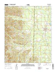 Poyen Arkansas Current topographic map, 1:24000 scale, 7.5 X 7.5 Minute, Year 2014