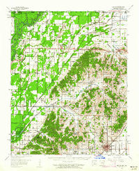Rector Arkansas Historical topographic map, 1:62500 scale, 15 X 15 Minute, Year 1958